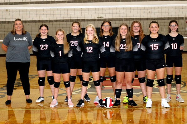2020 Bearcat 7th Grade Volleyball Team Picture